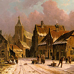 Adrianus Eversen - A Village In Winter