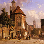Adrianus Eversen - View Of A Dutch Street