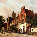 Adrianus Eversen - A View In Delft