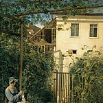 Karl Friedrich Lessing - Vienna home garden