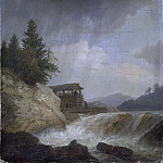 Salomon Duarte - Nordic Landscape with a Waterfall