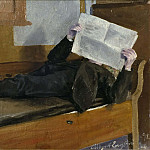 Gustaf Olof Cederström - The Artist's Father, Reading a Newspaper