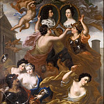 David Klöcker Ehrenstråhl - Allegory of King Karl XI and Queen Ulrika Eleonora's Association