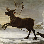 Reindeer with a sledge