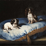 Pierre-Louis Cretey - Two smaller dogs [Attributed]