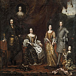 Jacob Heinrich Elbfas - Karl XI, King of Sweden, with family [Attributed]