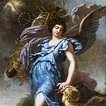 King Charles XI's guardian angel. Allegory