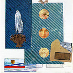 The postman Cheval, 1932, Paper and fabric collage wit, R K Post