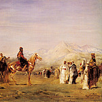 Arab Encampment In The Atlas Mountains, Jan Baptist Lodewyck Maes