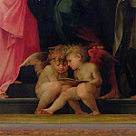 Uffizi - Two cherubs reading