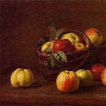 Apples in a Basket on a Table, Cor Blok