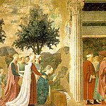 Piero della Francesca - The Arezzo Cycle. Adoration of the Holy Wood and the Meeting of Solomon and the Queen of Sheba