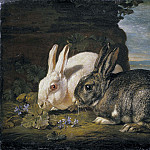 Ferdinand Julius Fagerlin - Two Rabbits [After]