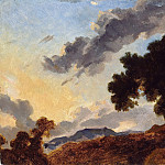 Jean Honore Fragonard - Mountain Landscape at Sunset