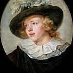 Portrait of young boy with a feathered hat, Jean Honore Fragonard