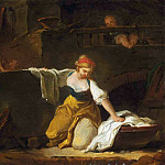 Jean Honore Fragonard - Young Washerwoman
