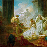 Jean Honore Fragonard - The grand priest Coresus sacrifices himself to save Callirhoe