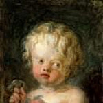Jean Honore Fragonard - Child with Flowers