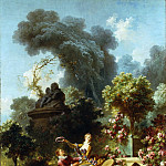 Jean Honore Fragonard - The Progress of Love: The Lover Crowned