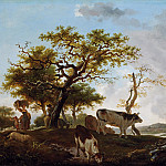 Landscape with Shepherd, Jean Honore Fragonard