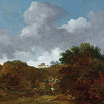 Jean Honore Fragonard - Landscape with Brigands attacking Travellers