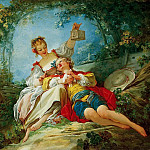 Jean Honore Fragonard - Happy lovers