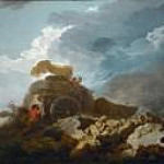 Jean Honore Fragonard - The cart stuck in the mud