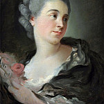 Portrait of a young woman, presumably Marie-Therese Colombe, Jean Honore Fragonard