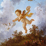 Jean Honore Fragonard - The Progress of Love: Love Pursuing a Dove