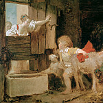 The Donkey Stall, Jean Honore Fragonard