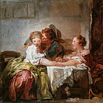 Captured Kiss, Jean Honore Fragonard