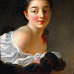 Jean Honore Fragonard - Young Woman with Brown Hair