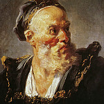 Jean Honore Fragonard - Bust of an Old Man Wearing a Cap
