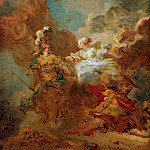 Fight between Mars and Minerva , Jean Honore Fragonard