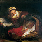 Jean Honore Fragonard - A caring mother