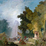 Jean Honore Fragonard - Festival at Saint-Cloud