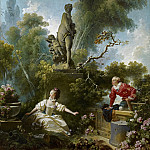 The Progress of Love: The Meeting, Jean Honore Fragonard
