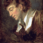 Jean Honore Fragonard - Head of a young Man