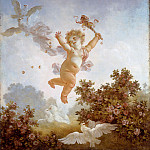 The Progress of Love: Love the Jester, Jean Honore Fragonard