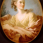 Jean Honore Fragonard - Portrait of a Young Woman, said to be Gabrielle de Caraman, Marquise de la Fare