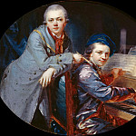 Christian Bernhard Rode - Self-portrait with his brother Gottlieb Christian Fuger