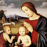 Francesco Francia - Madonna And Child With The Infant St John The Baptist