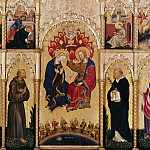 The altar polyptych Coronation of the Virgin