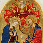 Gallo Gallina - The altar polyptych Coronation of the Virgin (Valle Romita Polyptych) - Coronation of the Virgin