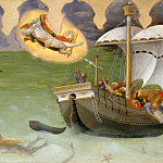 Quaratesi Altarpiece, predella - St. Nicholas Saves a Ship from Sinking