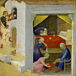 Quaratesi Altarpiece, predella – Gift to the Three Poor Girls