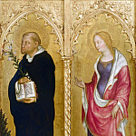Mattia Preti - The altar polyptych Coronation of the Virgin (Valle Romita Polyptych) - St. Dominic and Mary Magdalene