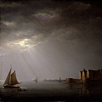 Jacob Heinrich Elbfas - Kalmar Castle by Moonlight