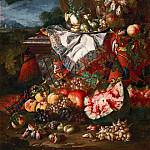 Pier Francesco Mola - Still Life with Classical Elements and Fruit