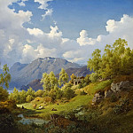 Jacob Heinrich Elbfas - Landscape. Motif from the Numme Valley in Norway